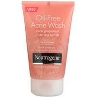 Neutrogena Oil-Free Acne Wash Foaming Scrub, Pink Grapefruit 4.2 oz (Pack of 4)