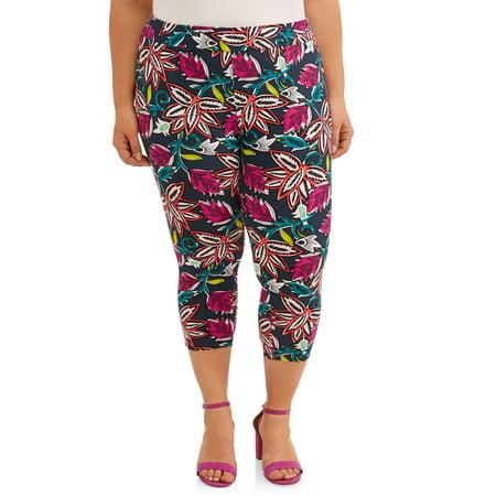 Paloma Legging (Women's Plus Size Super Soft Printed Capri)