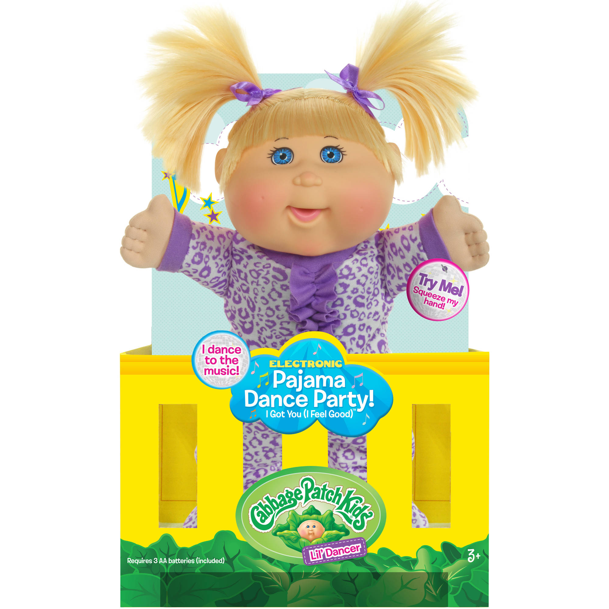 Cabbage Patch Kids Pajama Dance Party Doll Blonde Hair Blue Eye