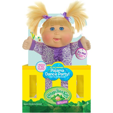 Cabbage Patch Kids Pajama Dance Party Doll  Blonde Hair Blue Eye Girl