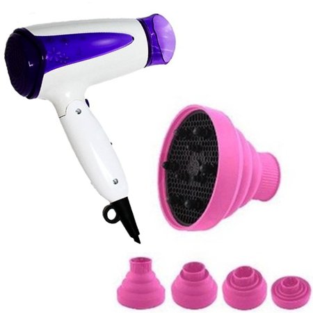 Travel Diffuser (Women\'s Foldable Travel Hair Dryer Free Hair Dryer Diffuser -)
