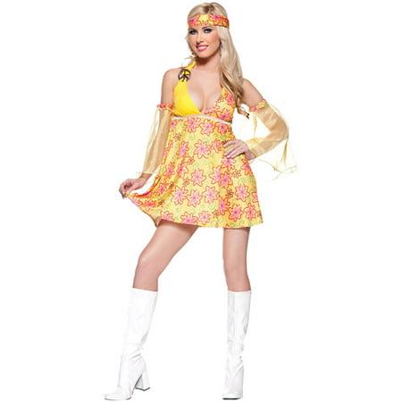 Flower Child Adult Halloween Costume (Floor 13 100 Floors Halloween)