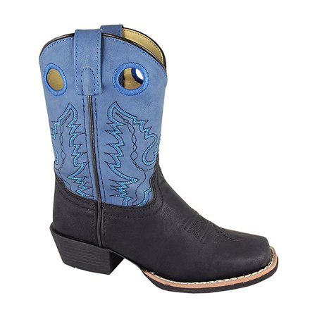 Smoky Mountain Kids Monterey Black and Blue Cowboy Boot
