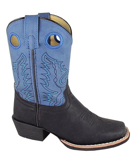 Smoky Mountain Kids Monterey Black and Blue Cowboy Boot