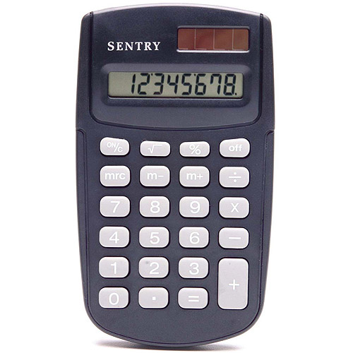 Sentry Dual-Power Calculator, Black