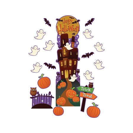 Fun Express - Halloween All In One Door Decor Kit - Educational - Classroom Decorations - Classroom Decor - 35 Pieces