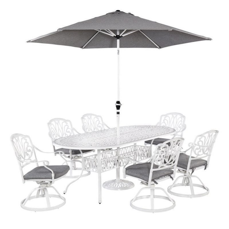 Bowery Hill 7 Piece Dining Set in White