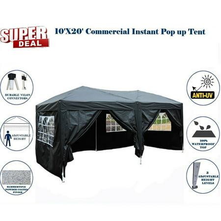 Zimtown 10'x20' Ez POP up Wedding Party Tent Folding Gazebo Beach Canopy Car Tent W/carry Bag