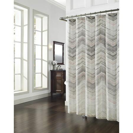 Richloom Home Fashions Movement Cotton Shower Curtain