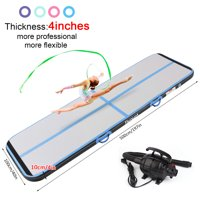 FBSPORT 5m*1m*0.1m Blue Air Track Brushed Tumbling mat Inflatable Gymnastics airtrack with Electric Air Pump for Practice Gymnastics, Tumbling,Parkour, Home Floor
