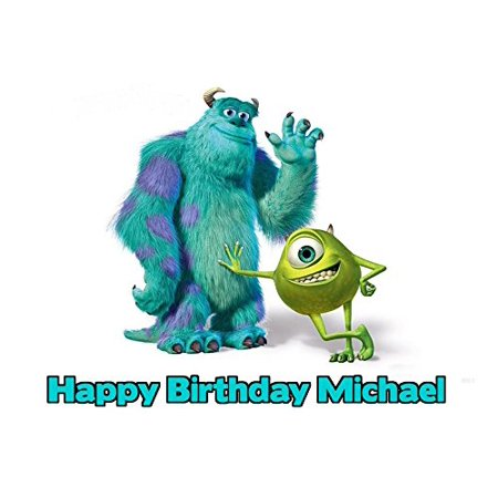 Monsters Inc Image Photo Cake Topper Sheet Personalized Custom Customized Birthday Party - 1/4 Sheet -](Monsters Inc Birthday)