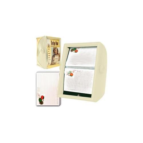 Trademark Poker 80-30025 Recipe Star Rotary Recipe Showcase - White