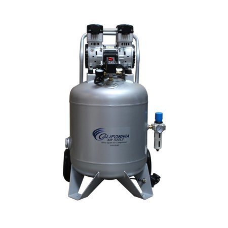 California Air Tools 30020CAD-22060 Ultra Quiet & Oil-Free 2.0 Hp, 30.0 Gal. Steel Tank Air Compressor with Automatic Drain Valve 220v 60 hz