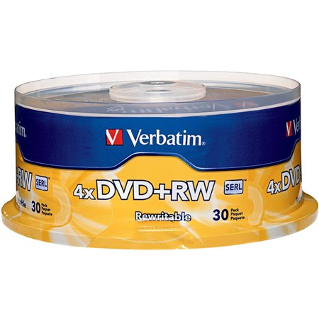 Verbatim DVD+RW (4.7 GB) (4x) With Branded Surface (Pk=30/Spindle)