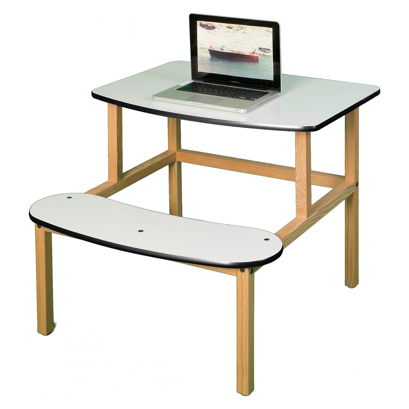 Wild Zoo Student Desk - White