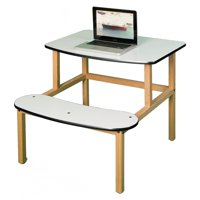 Wild Zoo Student Desk - White