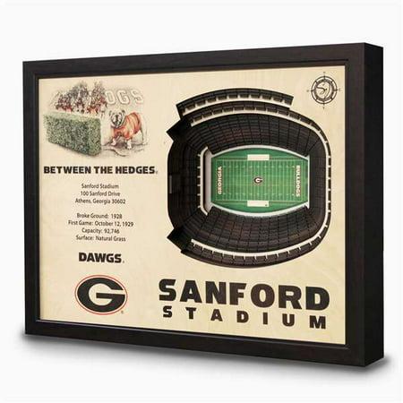 - Georgia Bulldogs - Sanford Stadium Wall Art