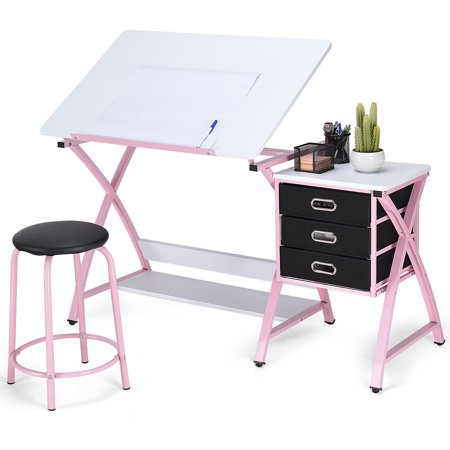 Costway Drafting Table and Art & Craft Drawing Desk ()