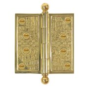"Brass Elegans Wc 007 3.5"" X 3.5"" Solid Brass Square Corner Plain Bearing Surface"