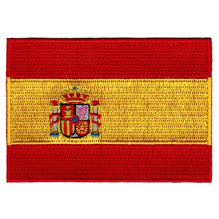 Spain Flag Patch - Spain Flag Embroidered Iron-on Patch