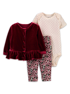 Child of Mine Girls One Piece Romper Dress 3-6 MONTHS Polka Dot Floral W Birds