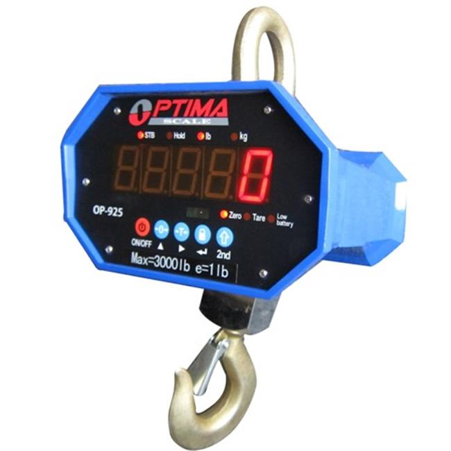 Optima Scales OP-925A-40000 Heavy-Duty Crane Scale - 40000 lbs x 20 lb. LED Display