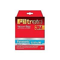 3m Filtrete 68701a-6 Pk (3) Vacuum Cleaner Bags Type U Panasonic 0126250