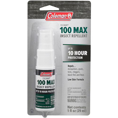 Coleman Max 100 Percent DEET Insect Repellent, 1 oz Pump Spray