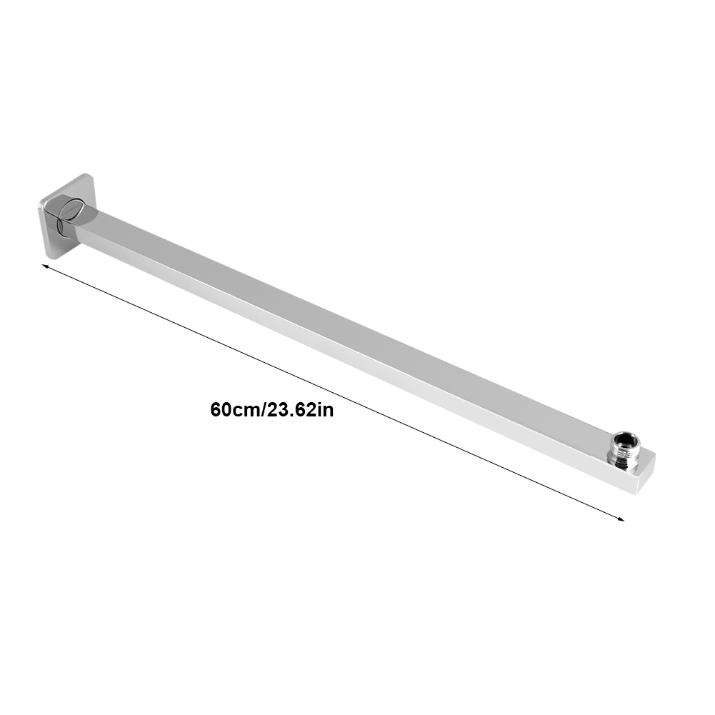 Ashata 60cm Stainless Steel Construction Wall Mounted Shower Extension Arm  Bathroom Attachment , Bathroom Tool,