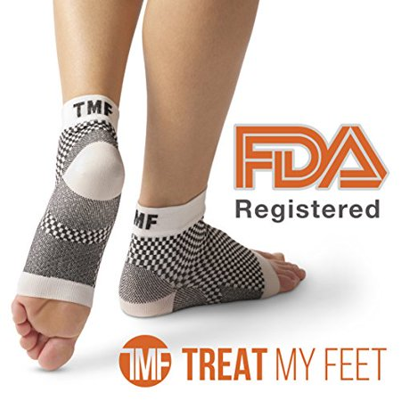 Plantar Fasciitis Sock & Compression Foot Sleeve: FDA-Registered, More Comfortable Than Night Splint For Heel Spur, Ankle, Arch Support - Edema Relief Orthopedic Socks By Treat My Feet - (Best Pure Heel Supports)