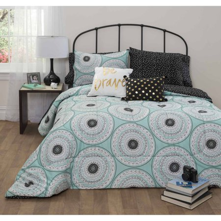 Formula Whitney Mint Bed In A Bag Bedding Set Walmart Com