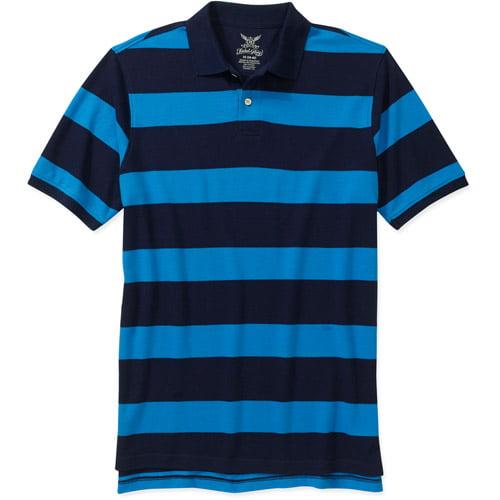 Faded Glory Men's Short Sleeve Stripe Polo
