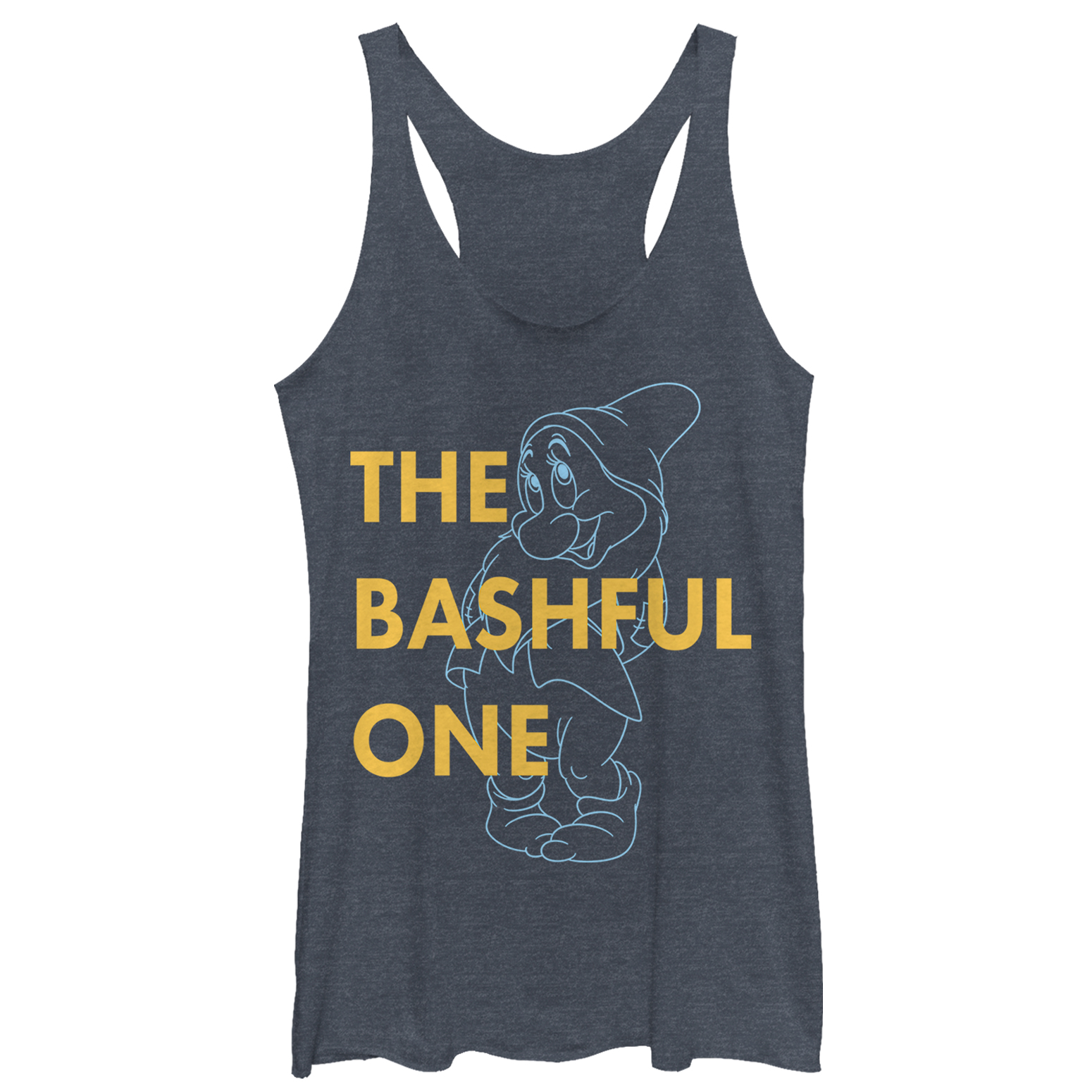 Snow White and the Seven Dwarves Women's Bashful One Racerback Tank Top