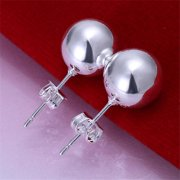 Rubique 18K Sterling Silver Pearled Style No. 2 925 Earring
