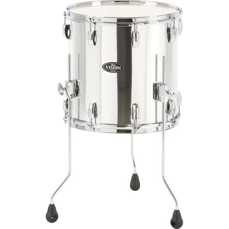 Pearl Vision Birch Floor Tom Mirror Chrome 14 x 14 in. Pearl Floor Tom Legs
