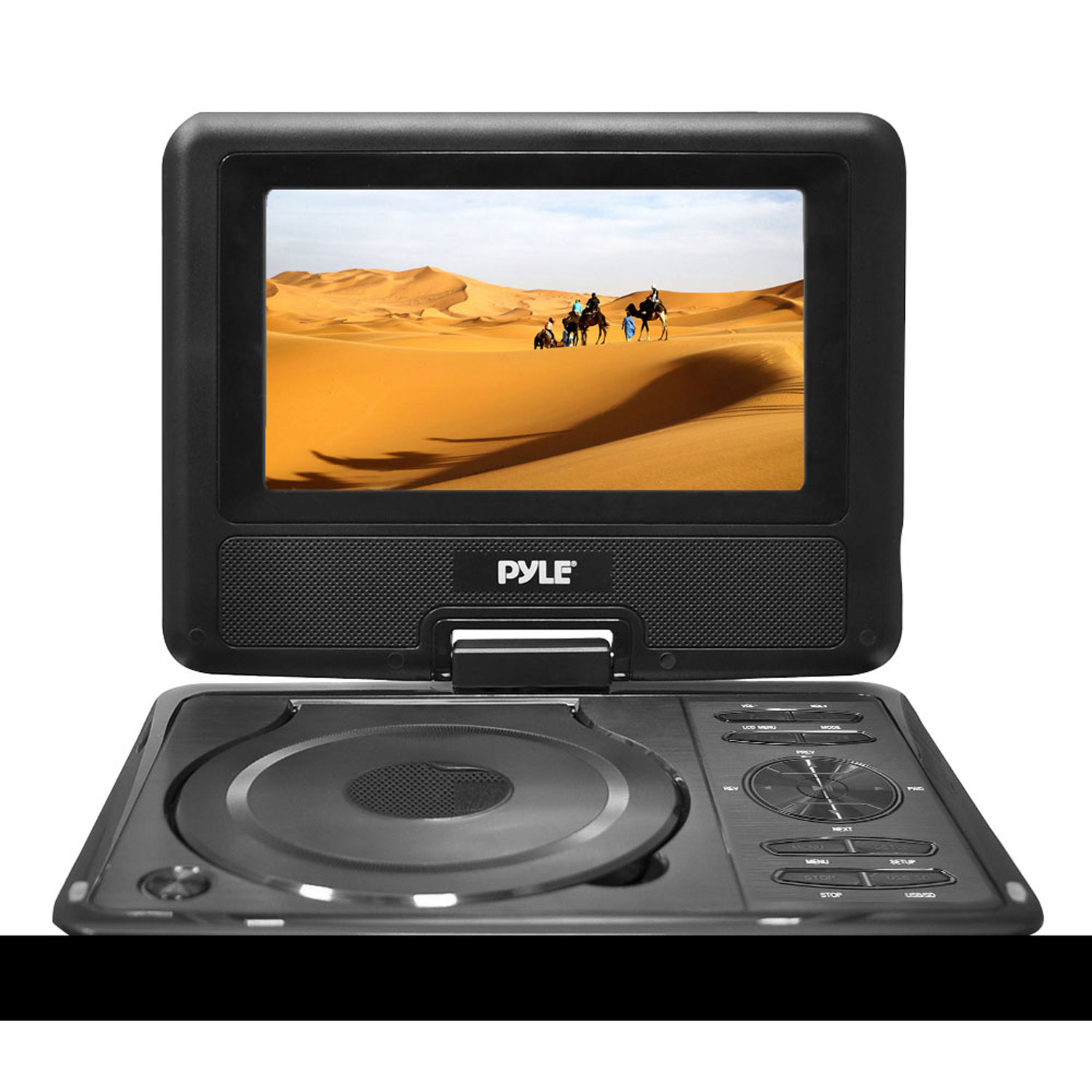 """Pyle 9"""" Widescreen High Resolution Portable Monitor w/ Built-In DVD, MP3, MP4 Players, USB Port & SD Card Slot Readers"""