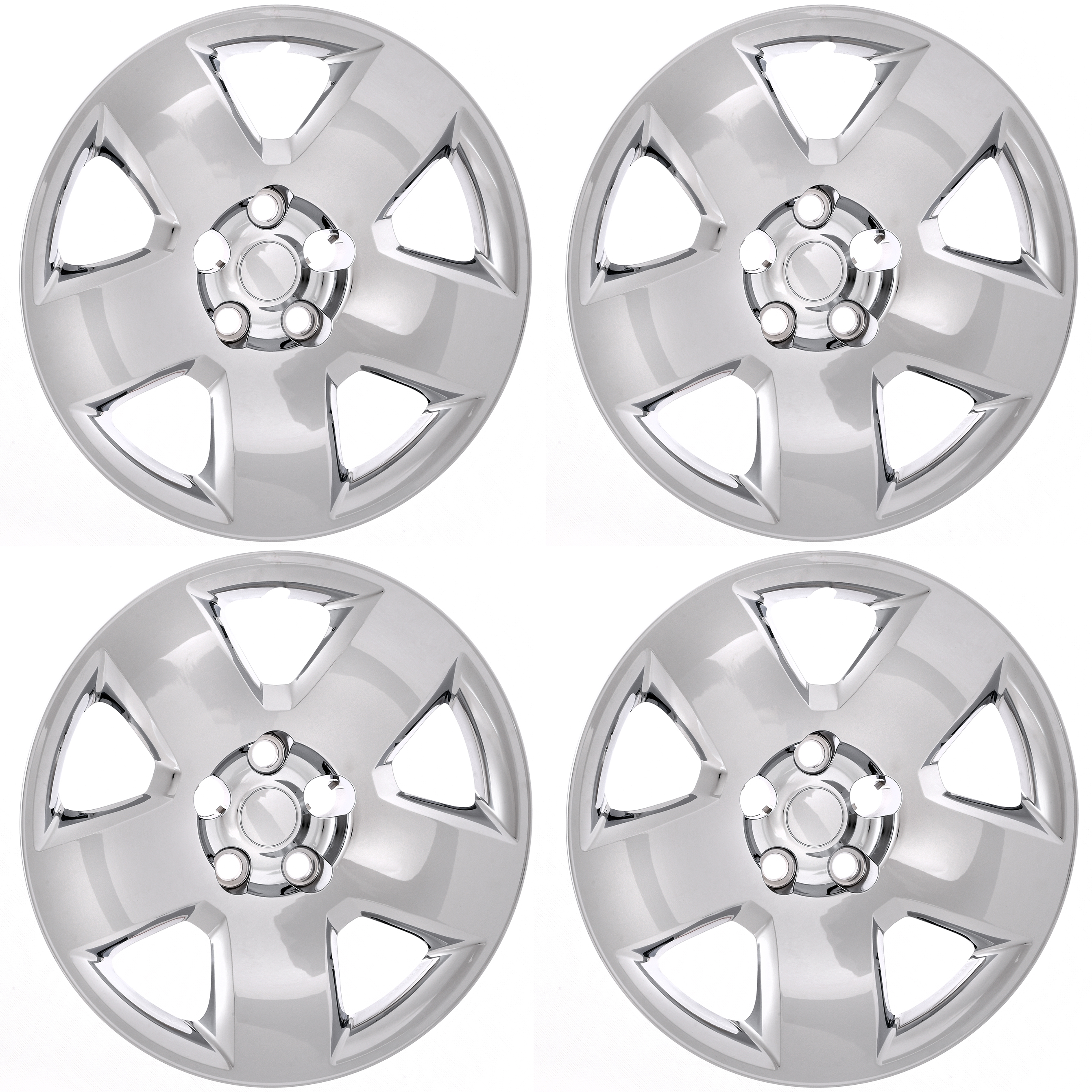 """CoverTrend (Set of 4) Aftermarket (BOLT ON) HUB CAPS Fits 05-11 DODGE CHARGER MAGNUM 17"""" inch CHROME WHEEL COVER Skin"""