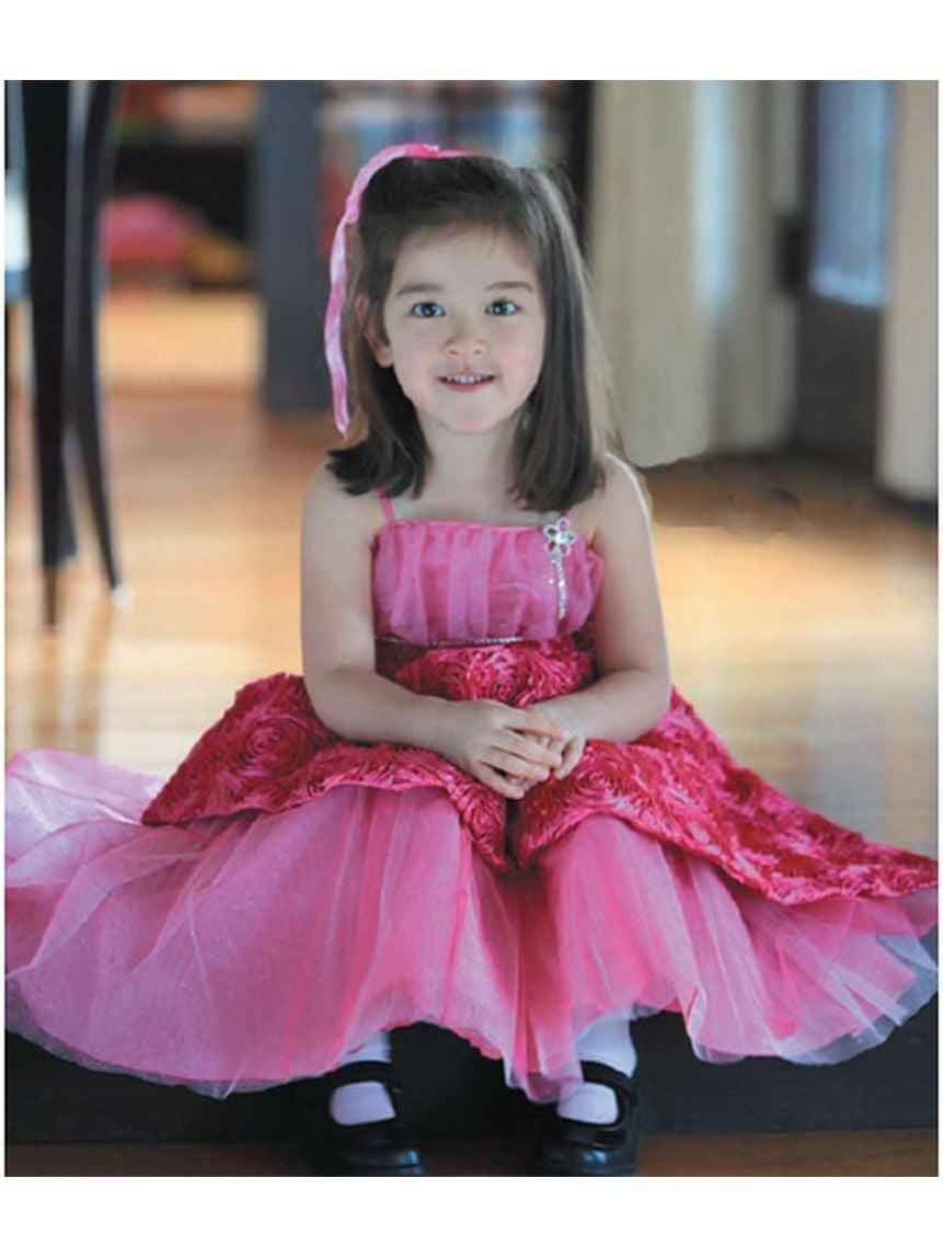 Angels Garment Toddler Girls Fuchsia 4T Ribbon Pageant Dress