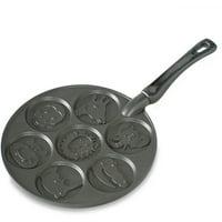 Nordic Ware Zoo Friends Pancake Pan, Black