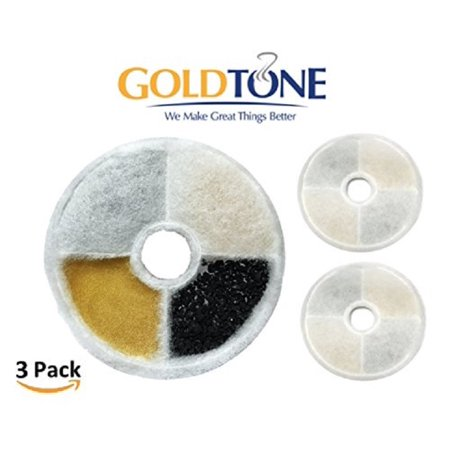 GoldTone Brand Water Softening Resin & Charcoal Water Filter. Replaces Your Catit Design Sense Water Filter Cartridge. Fits Catit Flower Fountain