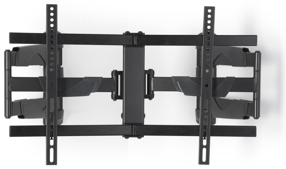 Displays2go Curved TV Wall Mount for Corners, Steel, Aluminum & Plastic Construction � Black (LMCURC3770) by Displays2go