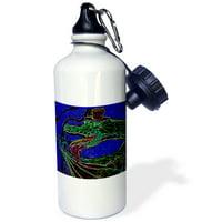 3dRose Yeti Man, Sports Water Bottle, 21oz