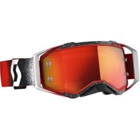2020 Scott PROSPECT Goggles -WHITE/RED- Orange Chrome Lens - Priority Shipping