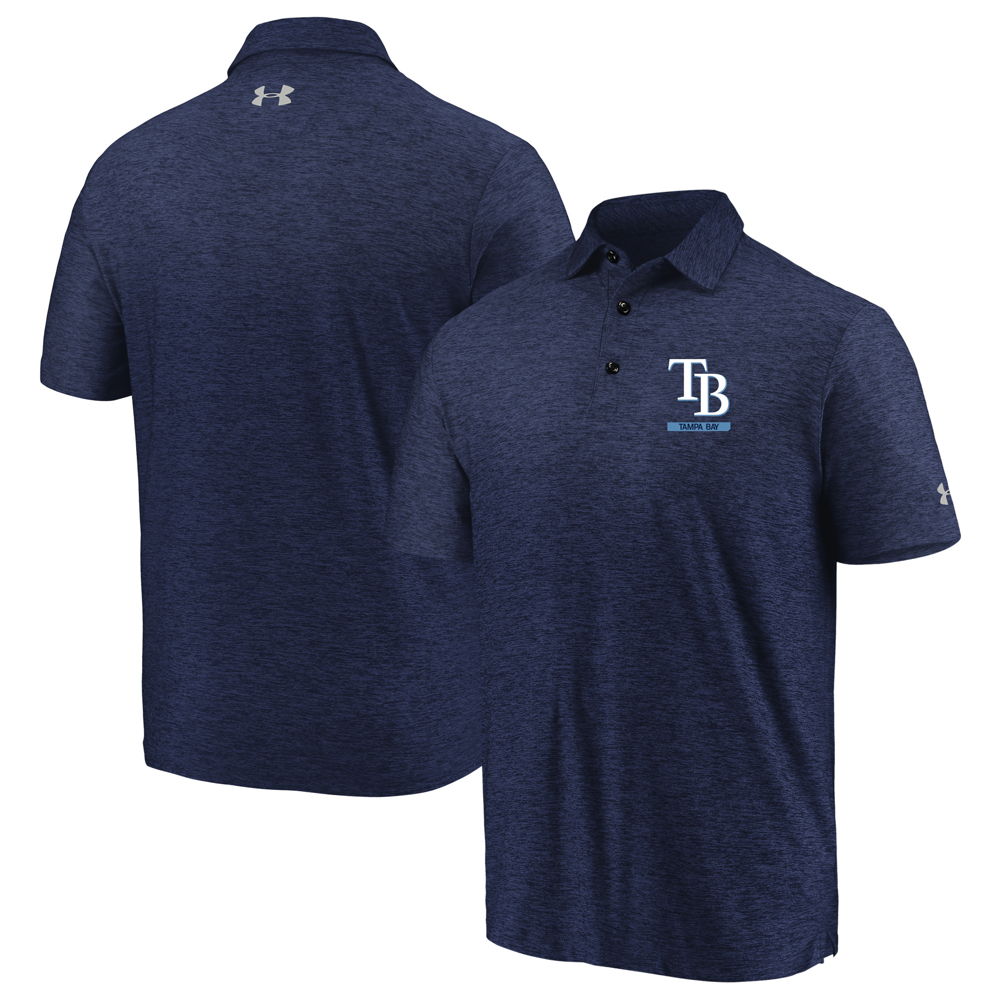 Tampa Bay Rays Under Armour City Underline Polo - Navy