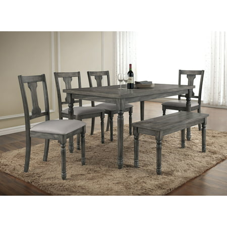 Best Master Furniture Demi 6 Pcs Dinette Set Walmart Com