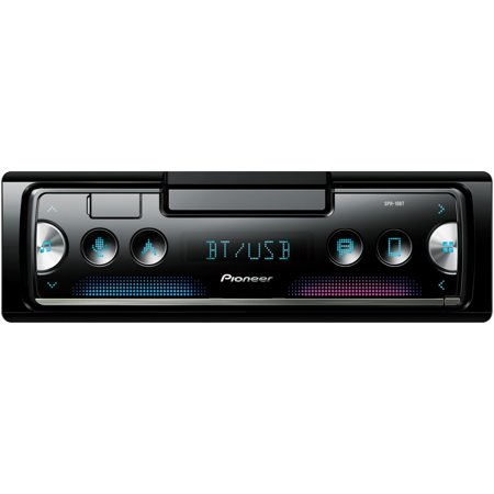 Pioneer SPH-10BT Single-DIN In-Dash Car Stereo Mechless Smart Sync Receiver with (Best Mechless Car Stereo)