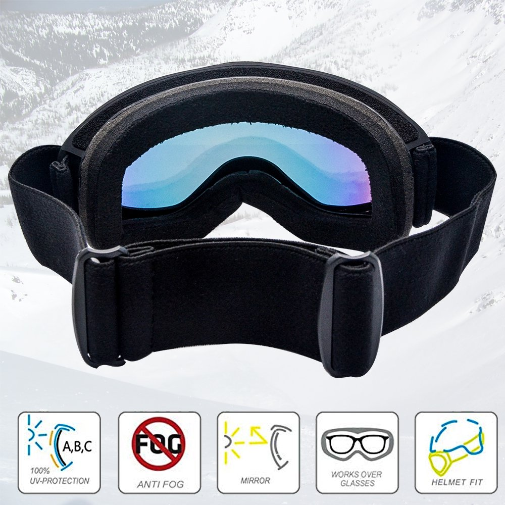 fd87c0e7346 PICADOR Ski Goggles Over The Glasses Anti-Fog UV400 Protection Lens Youth  Kids