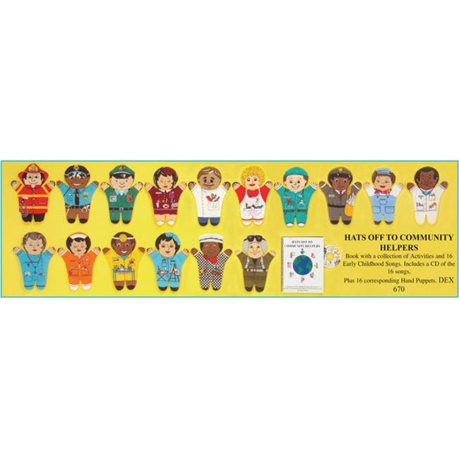 Dexter DEX 670 - Hats Off To Community Helpers Hand Puppets
