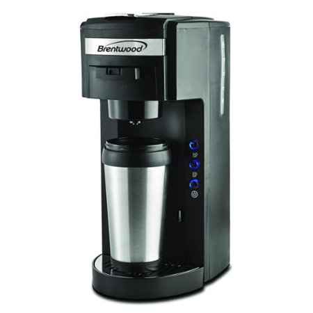 Brentwood TS-114 K-cup and Soft Pod Compatible Single Serve Coffee Maker with Mug - Walmart.com