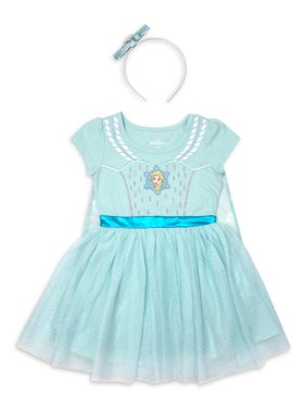 Disney Frozen Elsa Toddler Girl Costume Tutu Dress with Headband